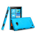 IMAK Ultrathin Matte Color Cover Hard Case for Nokia Lumia 720 - Blue (High transparent screen protector)