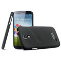 IMAK Ultrathin Matte Color Cover Hard Case for Samsung GALAXY S4 I9500 SIV - Black (High transparent screen protector)
