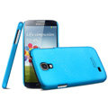 IMAK Ultrathin Matte Color Cover Hard Case for Samsung GALAXY S4 I9500 SIV - Blue (High transparent screen protector)