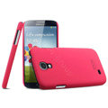 IMAK Ultrathin Matte Color Cover Hard Case for Samsung GALAXY S4 I9500 SIV - Rose (High transparent screen protector)