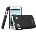 IMAK Ultrathin Matte Color Cover Hard Case for Samsung i8258 - Black (High transparent screen protector)