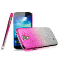 Imak Colorful raindrop Case Hard Cover for Samsung GALAXY S4 I9500 SIV - Gradient Rose (High transparent screen protector)