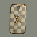 LOUIS VUITTON LV Classic plaid leather Case Hard Back Cover for Samsung GALAXY S4 I9500 SIV - Beige