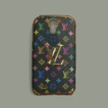 LOUIS VUITTON LV Luxury leather Case Hard Back Cover for Samsung GALAXY S4 I9500 SIV - Black