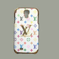 LOUIS VUITTON LV Luxury leather Case Hard Back Cover for Samsung GALAXY S4 I9500 SIV - White