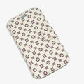 LV LOUIS VUITTON leather case button Holster cover for Samsung GALAXY S4 I9500 SIV - Beige