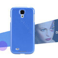 Nillkin Colourful Hard Case Skin Cover for Samsung GALAXY S4 I9500 SIV - Blue (High transparent screen protector)