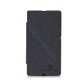 Nillkin England Retro Leather Case Holster Cover for Sony Ericsson L36i L36h Xperia Z - Black (High transparent screen protector)