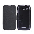 Nillkin Fresh leather Case Bracket Holster Cover Skin for Coolpad 5890 - Black