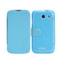 Nillkin Fresh leather Case Bracket Holster Cover Skin for Coolpad 5890 - Blue