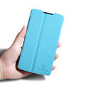 Nillkin Fresh leather Case Bracket Holster Cover Skin for Lenovo S868t - Blue
