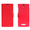 Nillkin Fresh leather Case Bracket Holster Cover Skin for OPPO X909 Find 5 - Red