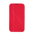 Nillkin Fresh leather Case Bracket Holster Cover Skin for Samsung N7100 GALAXY Note2 - Red