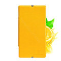 Nillkin Fresh leather Case Bracket Holster Cover Skin for Sony Ericsson L36i L36h Xperia Z - Yellow
