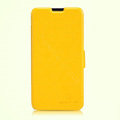 Nillkin Fresh leather Case Bracket Holster Cover Skin for ZTE N983 - Yellow