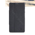 Nillkin Fresh leather Case button Holster Cover Skin for HUAWEI Ascend Mate X1 - Black