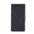 Nillkin Fresh leather Case button Holster Cover Skin for HUAWEI Ascend W1 - Black