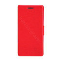 Nillkin Fresh leather Case button Holster Cover Skin for HUAWEI Ascend W1 - Red