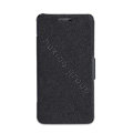 Nillkin Fresh leather Case button Holster Cover Skin for Samsung i8258 - Black