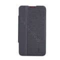 Nillkin Fresh leather Case button Holster Cover Skin for ZTE U887 - Black