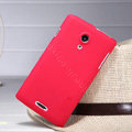 Nillkin Super Matte Hard Case Skin Cover for Lenovo S868t - Red (High transparent screen protector)