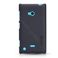 Nillkin Super Matte Hard Case Skin Cover for Nokia Lumia 720 - Black (High transparent screen protector)