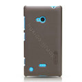 Nillkin Super Matte Hard Case Skin Cover for Nokia Lumia 720 - Brown (High transparent screen protector)