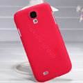 Nillkin Super Matte Hard Case Skin Cover for Samsung GALAXY S4 I9500 SIV - Red (High transparent screen protector)