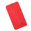 Nillkin leather Case Holster Cover Skin for BBK vivo X1 - Red (High transparent screen protector)
