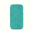 Nillkin leather Case Holster Cover Skin for Samsung GALAXY S4 I9500 SIV - Green (High transparent screen protector)