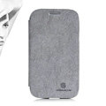 Nillkin leather Case Holster Cover Skin for Samsung i9080 i9082 Galaxy Grand DUOS - Gray (High transparent screen protector)