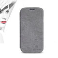 Nillkin leather Cases Holster Skin Cover for Samsung GALAXY S4 I9500 SIV - Gray (High transparent screen protector)