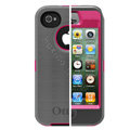 Original Otterbox Defender Case Cover Shell for iPhone 4G 4S - Gray Rose