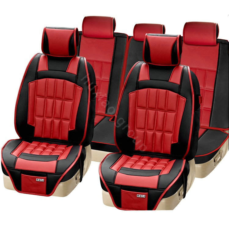 Red And Black Seat Cover Set Velcromag