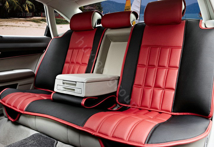 buy wholesale fortune custom auto car seat cover cushion set artificial leather beige black. Black Bedroom Furniture Sets. Home Design Ideas