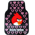 Angry Birds Universal Automobile Carpet Car Floor Mat Rubber Heart 5pcs Sets - Pink