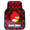 Angry Birds Universal Automobile Carpet Car Floor Mat Rubber Heart 5pcs Sets - Red