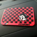 Astro Boy Automobile Non-Slip Mat PVC Cartoon Car Anti-Slip Mat Squares - Red