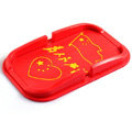 China Flag Automobile Non-Slip Mat Silicone Car Anti-Slip Mat Box Service - Red