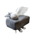 Donkey Auto Car Tissue Box Plush Cotton Cartoon - Gray
