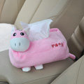 Donkey Auto Car Tissue Box Plush Cotton Cartoon - Pink