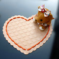 Heart Automobile Non-Slip Mat PVC Bear Car Anti-Slip Mat Plastic - Orange