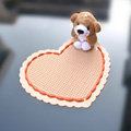 Heart Automobile Non-Slip Mat PVC Bear Car Anti-Slip Mat Point - Orange
