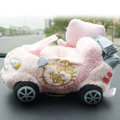 Hello Kitty 3D Automobile Non-Slip Mat Plush Car Anti-Slip Mat Box Staff - Pink