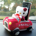 Hello Kitty 3D Automobile Non-Slip Mat Plush Car Anti-Slip Mat Box Staff - Red