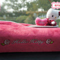 Hello Kitty Auto Car Tissue Box Plush Cotton Heart - Rose