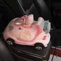 Hello Kitty Auto Car Tissue Box Plush Cotton Steering Wheel - Pink
