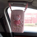 Hello Kitty Auto Car Tissue Box Plush Cotton Suspension - Pink