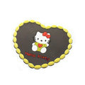 Hello Kitty Automobile Non-Slip Mat PVC Cartoon Car Anti-Slip Mat Heart - Yellow