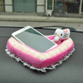 Hello Kitty Automobile Non-Slip Mat Plush Car Anti-Slip Mat Box Heart - Pink